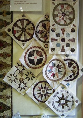 Jane Quilt dated 1860 and by Jane Pizar.  Marriage Quilt progress