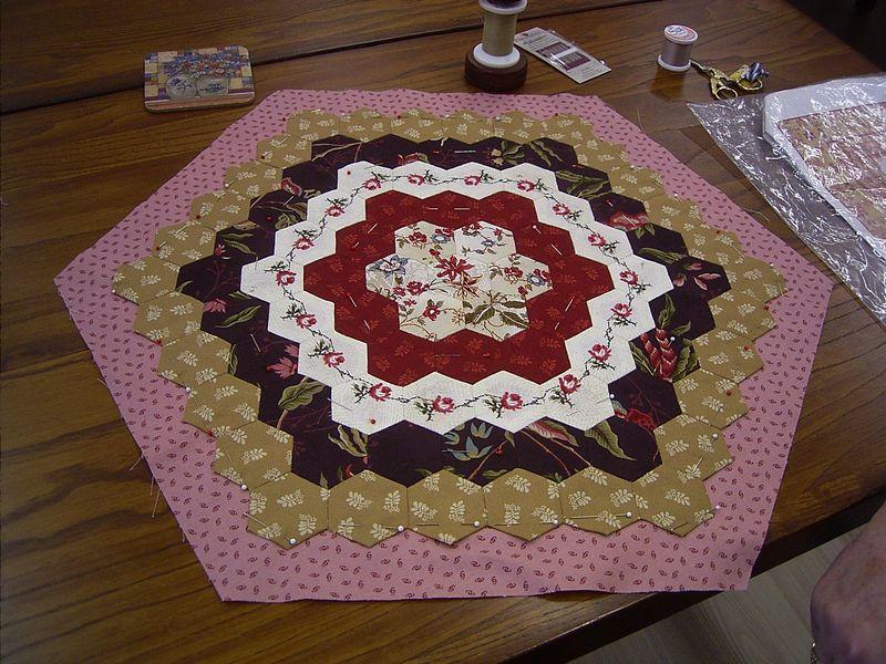 Kaye's hexagon quilt